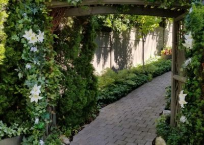 summer wedding garden arbour