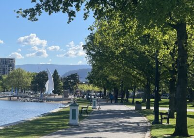 Enjoy a beautiful walk on the beach and many more activities for couples in Kelowna, BC.